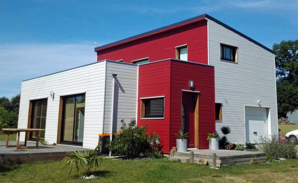 maison individuelle tage avec toiture mono pente nos realisations. Black Bedroom Furniture Sets. Home Design Ideas
